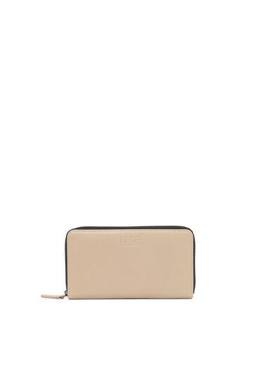 Portemonnaie aus Nappaleder mit umlaufendem Reißverschluss