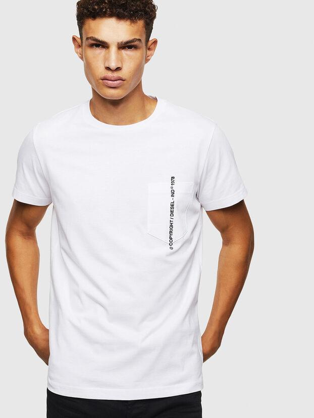 T-RUBIN-POCKET-J1, Weiß - T-Shirts