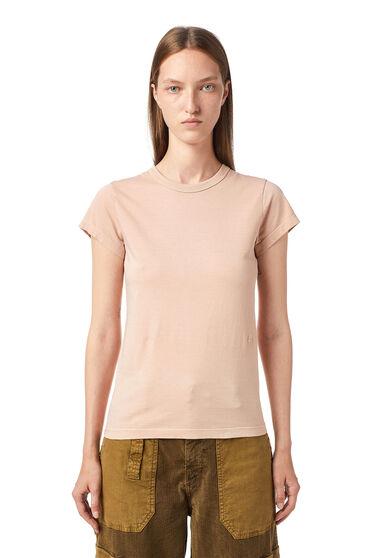 T-Shirt mit gleichfarbiger Stickerei