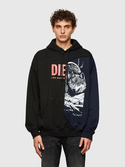 Diesel - S-BLASTY, Blau/Schwarz - Sweatshirts - Image 1