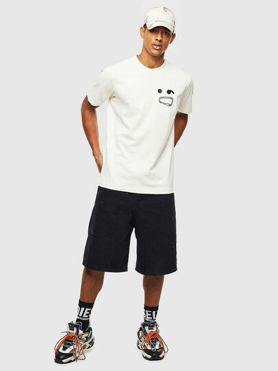 Diesel - T-JUST-T14, Weiß - T-Shirts - Image 4