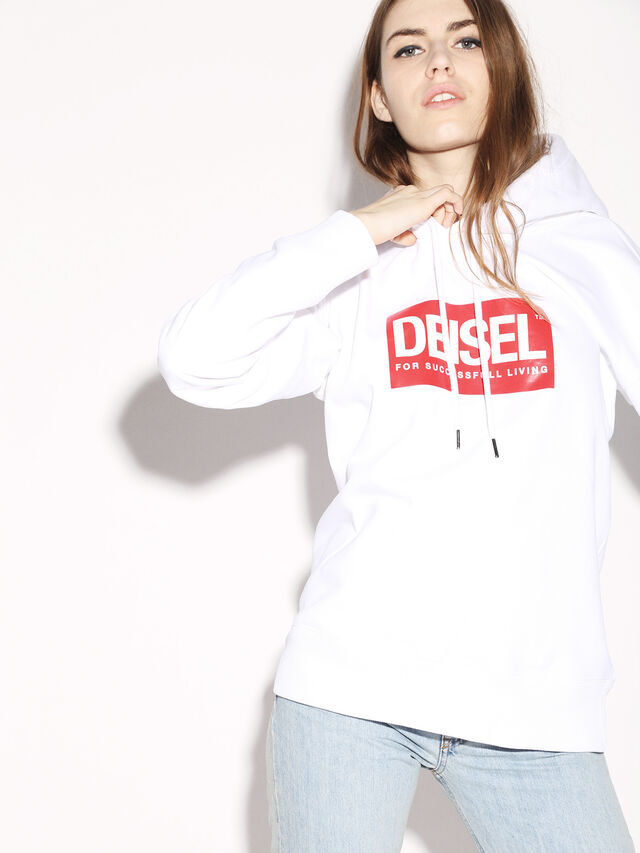 Diesel - DEIS-SHOOD, Weiß - Sweatshirts - Image 8