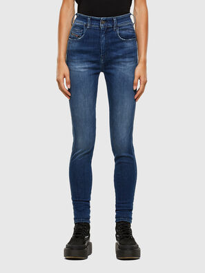 Slandy High 009FE, Dunkelblau - Jeans