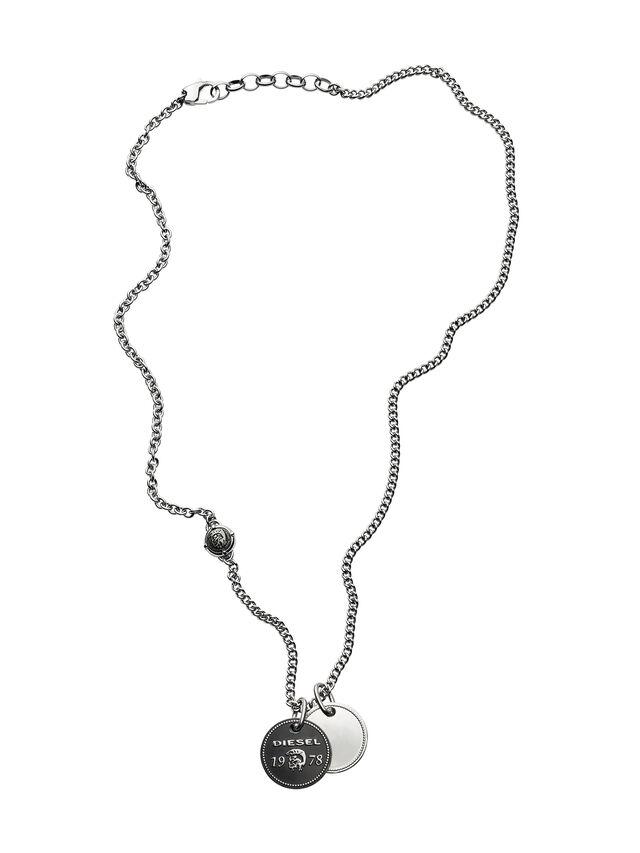 Diesel - NECKLACE DX1091, Silber - Halsketten - Image 1