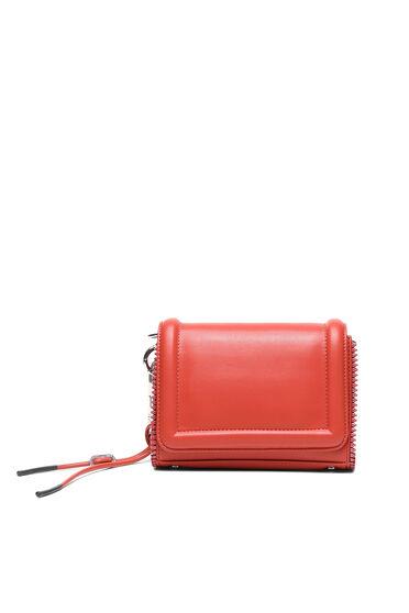 Kleine Crossbody-Tasche aus Kunstnappa mit Reißverschlussbesatz