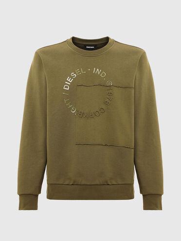 Sweatshirt mit Patchwork-Copyright-Logo