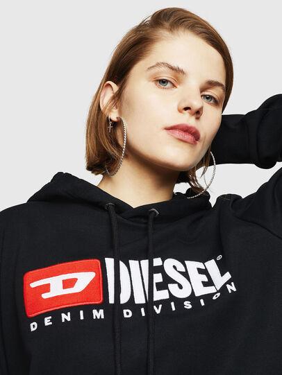 Diesel - F-GIR-HOOD-DIVISION-, Schwarz - Sweatshirts - Image 3