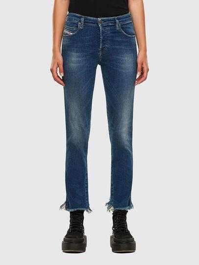 Diesel - Babhila-Zip 009EZ, Mittelblau - Jeans - Image 1