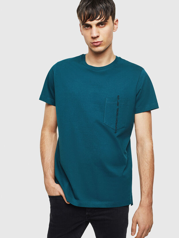 T-RUBIN-POCKET-J1, Dunkelgrün - T-Shirts
