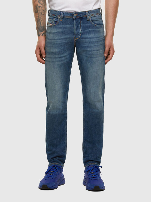 Larkee-Beex 009DB, Mittelblau - Jeans