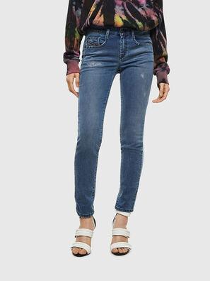 D-Ollies JoggJeans 069MC, Mittelblau - Jeans