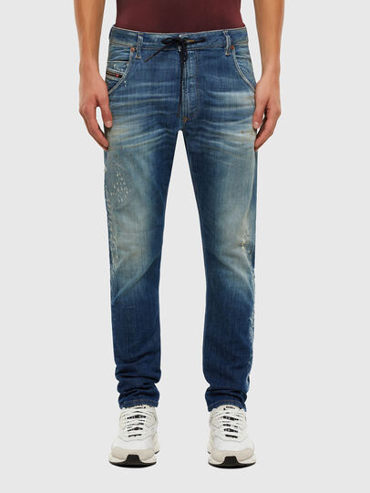 Diesel - KROOLEY JoggJeans® 009NK, Mittelblau - Jeans - Image 1