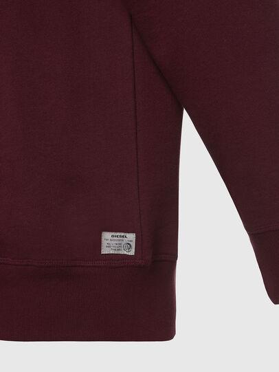 Diesel - UMLT-WILLY, Bordeauxrot - Sweatshirts - Image 4