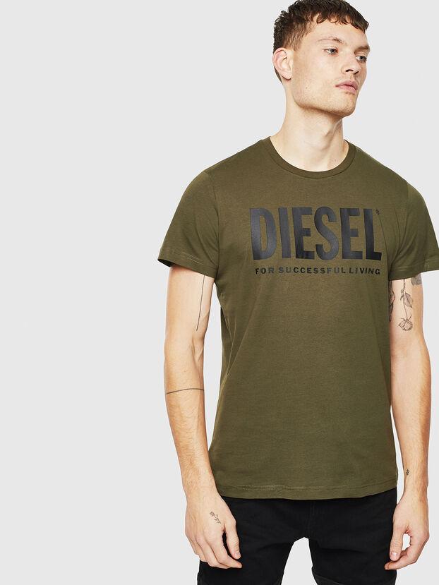 T-DIEGO-LOGO, Armeegrün - T-Shirts