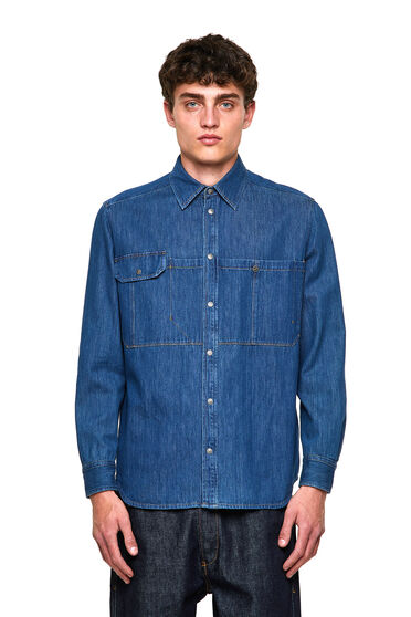 Shirt aus Stonewash-Denim