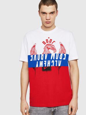 T-JUST-A1, Weiß/Rot/Blau - T-Shirts