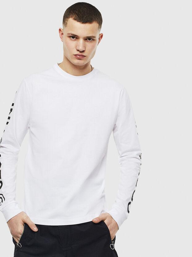 T-JUST-LS-T14, Weiß - T-Shirts