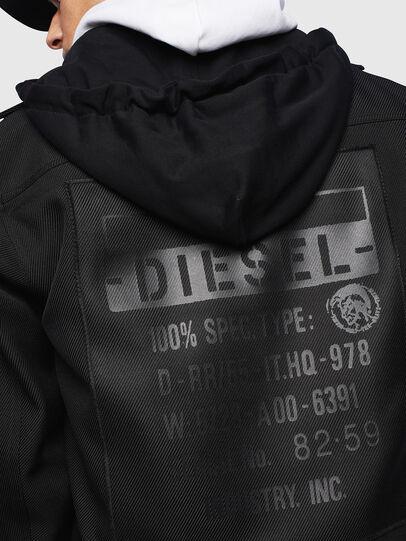 Diesel - J-JESSY-HOOD, Schwarz - Jacken - Image 3