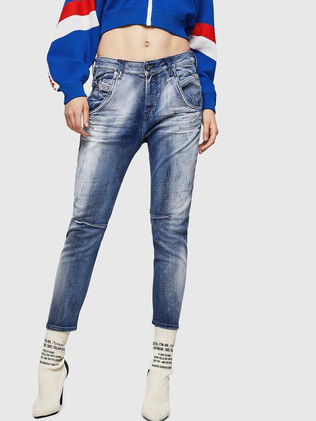 Fayza JoggJeans 0870N, Mittelblau - Jeans