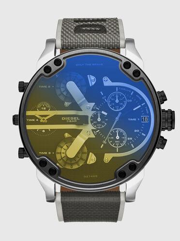 Mr.Daddy2.0-Armbanduhr mit zwei Zeigern und schwarzem Nylonarmband