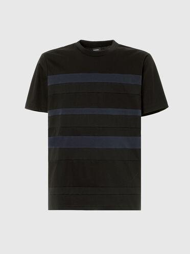 T-Shirt im Streifenpaneldesign