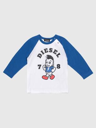 TORAB, Weiss/Blau - T-Shirts und Tops