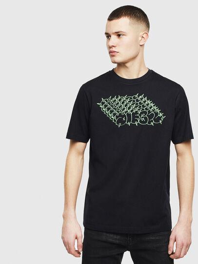 Diesel - T-JUST-T20, Schwarz - T-Shirts - Image 1