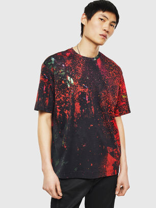 TEORIALE-D, Schwarz/ Rot - T-Shirts