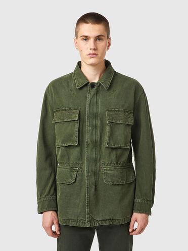 Jacke zum Wenden aus überfärbter Baumwolle