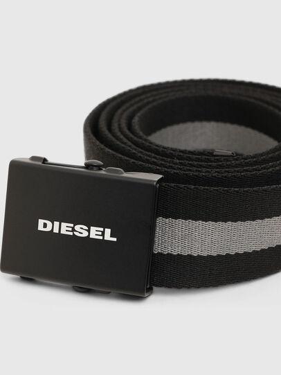 Diesel - B-PLATA, Schwarz/Grau - Gürtel - Image 2