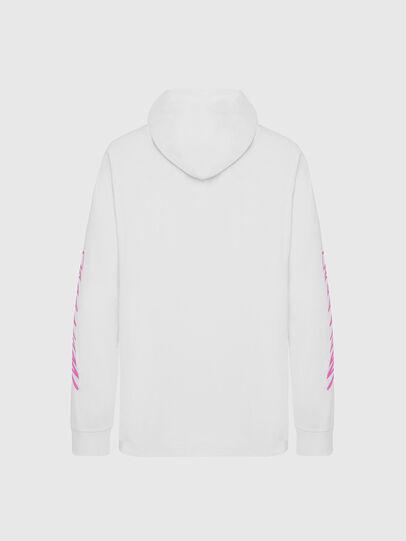 Diesel - T-JUST-LS-HOOD-X30, Weiß - T-Shirts - Image 2