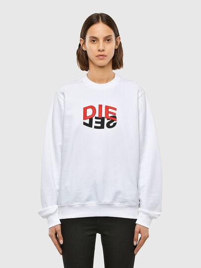 Diesel - F-ANG-V41, Weiß - Sweatshirts - Image 1