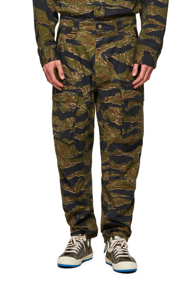 Cargo-Hose mit Tiger-Camouflage-Print