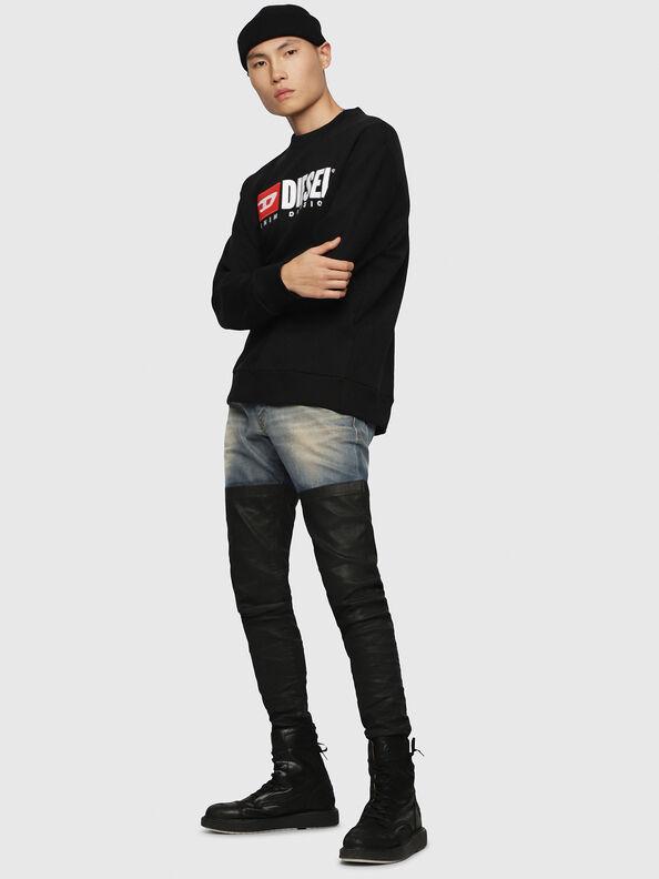 S-CREW-DIVISION, Schwarz - Sweatshirts
