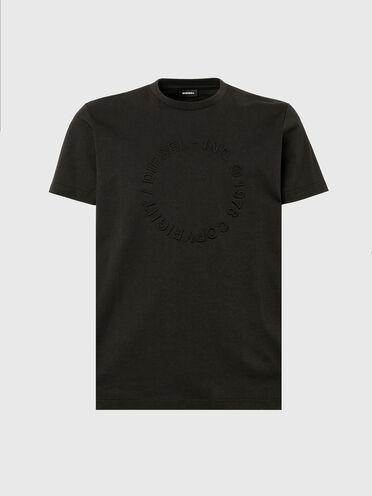 T-Shirt mit geprägtem Copyright-Logo