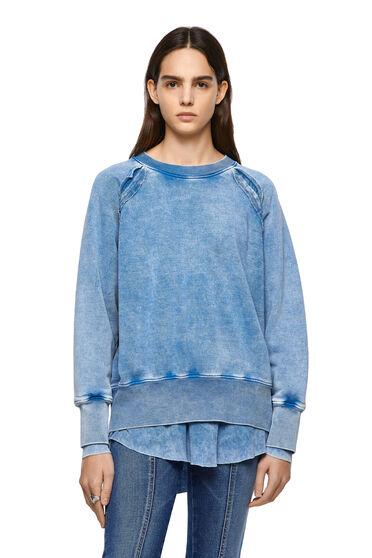 Mehrlagiges Sweatshirt im Pigmentdruck