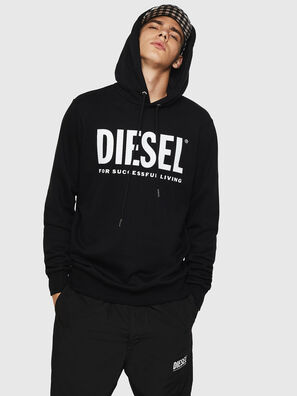S-GIR-HOOD-DIVISION-, Schwarz - Sweatshirts