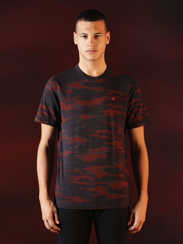 DVL-TSHIRT-CAMU-SPECIAL COLLECTION, Rot/Schwarz