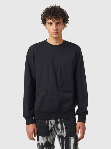 Sweatshirt mit Reißverschlusstasche
