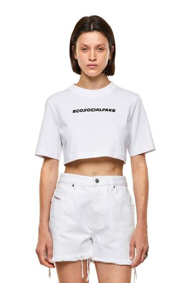 Green Label T-Shirt mit Stickerei