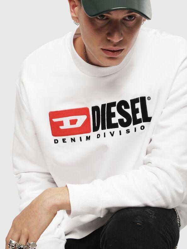 S-CREW-DIVISION, Weiß - Sweatshirts