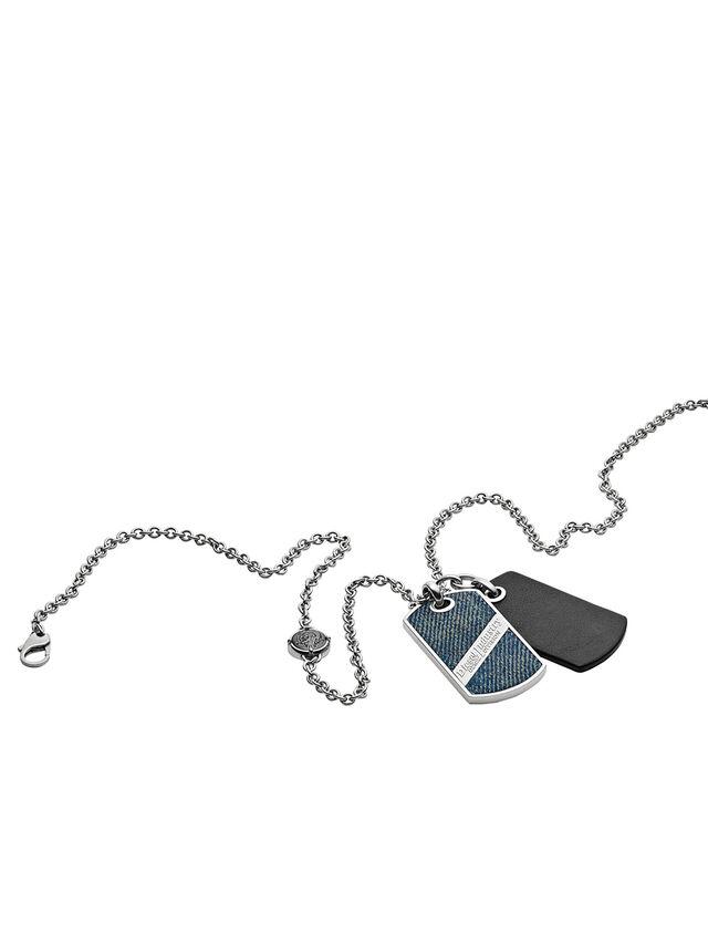 NECKLACE DX1031, Jeansblau