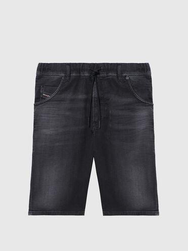 Shorts im Slim Fit aus leicht behandeltem JoggJeans®-Material