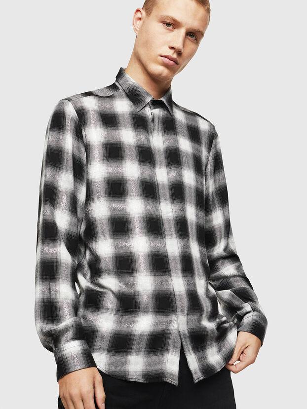 S-MARLENE-C, Schwarz/Weiß - Hemden