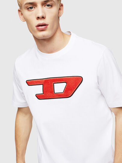 Diesel - T-JUST-DIVISION-D, Weiß - T-Shirts - Image 3