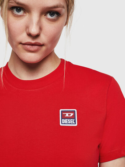 Diesel - T-SILY-ZE, Feuerrot - T-Shirts - Image 5