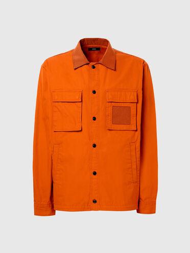 Hemd aus Twill und Nylon