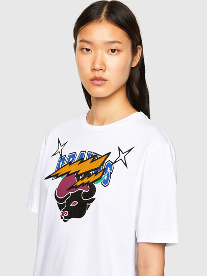 Diesel - CL-T-JUST-O1, Weiß - T-Shirts - Image 6