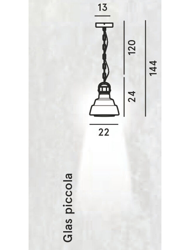 Diesel - GLAS PICCOLA, Silber - Pendellampen - Image 2