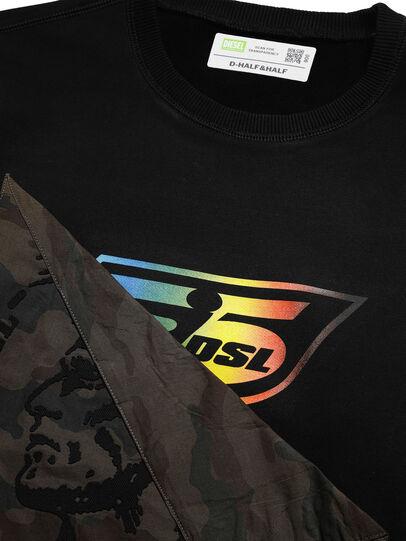 Diesel - D-HALF&HALF, Schwarz - Sweatshirts - Image 4